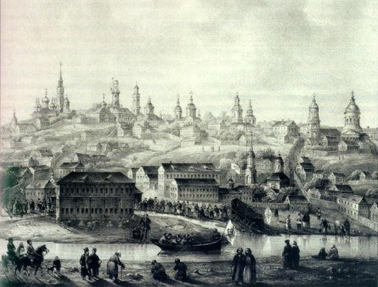 Гравюра Воронеж в первые годы существования