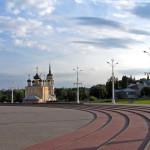 Адмиралтейская площадь в Воронеже 2007 год фото