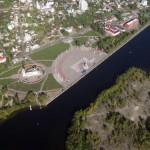 Адмиралтейская площадь в Воронеже с высоты фото