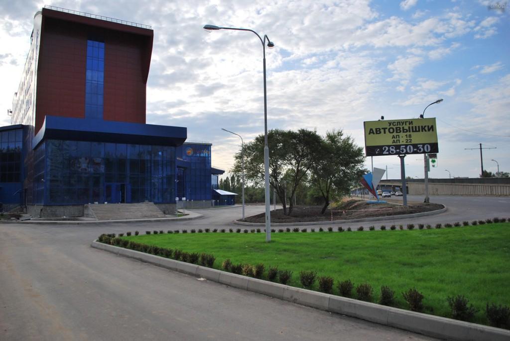 Площадка перед Аквапарком в Воронеже фото