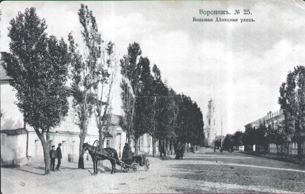 Большая Девицкая улица в Воронеже старое фото