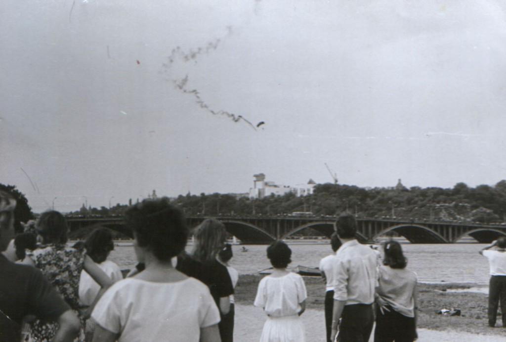Вид на Чернавский мост в Воронеже старое фото