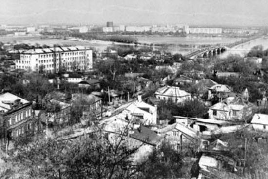 Чернавский мост в Воронеже 1970-е годы фото