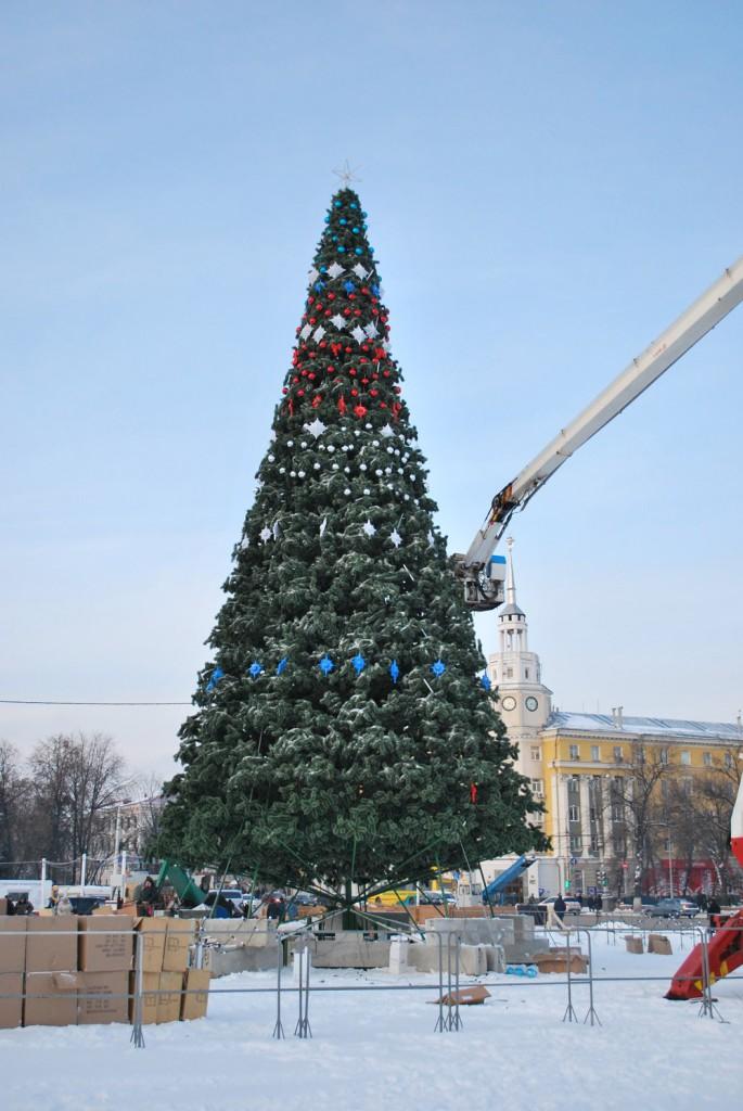Елка на площади в Воронеже фото