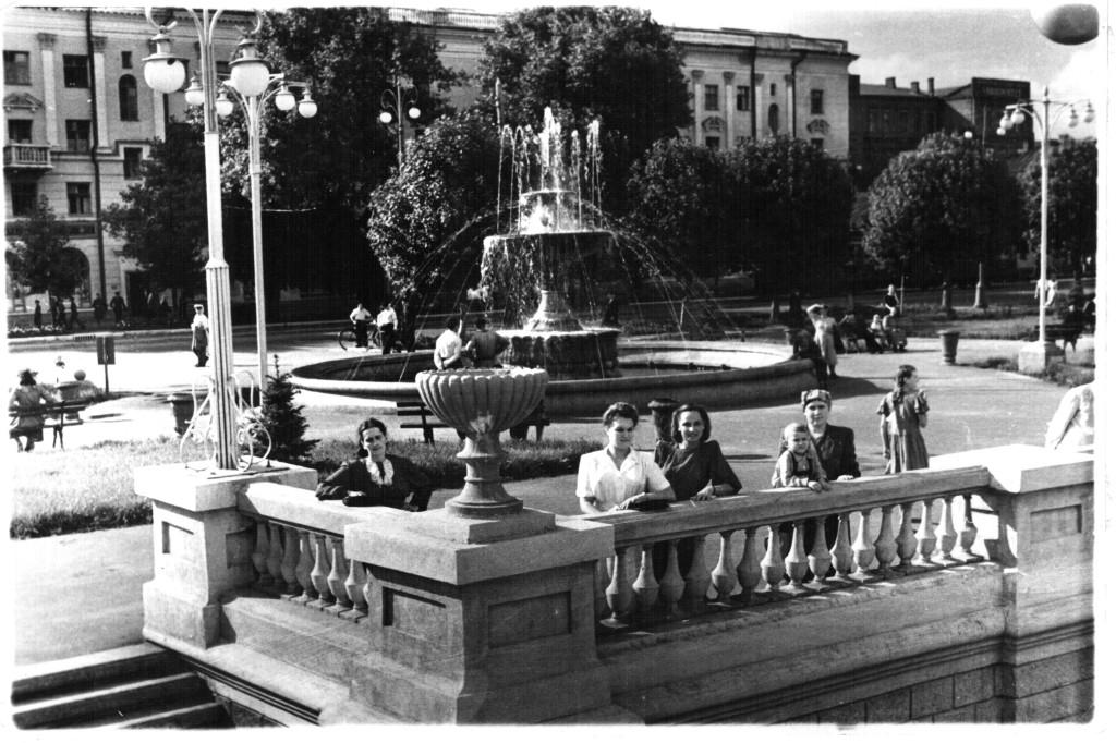 Фонтан на пр.Революции в Воронеже старое фото