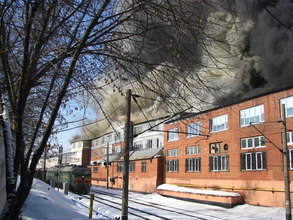 Пожар на Хладокомбинате в Воронеже фото