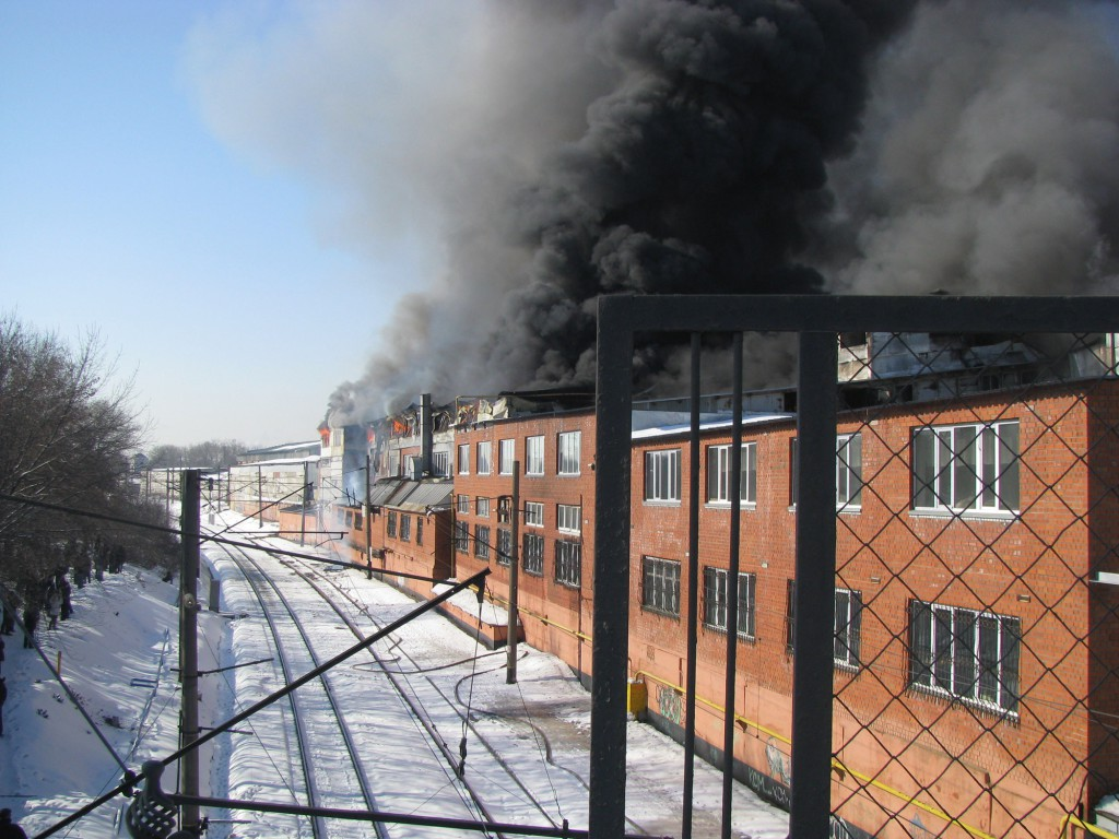 Фотография пожара на Хладокомбинате