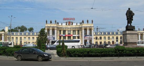 Железнодорожный Вокзал города Воронежа фото