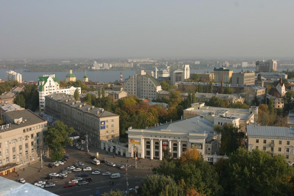 Кинотеатр Спартак с высоты в Воронеже фото