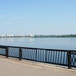 Набережная правый берег вид на левый берег в Воронеже фото