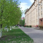 Пешеходный тротуар у Обладминистрации в Воронеже фото