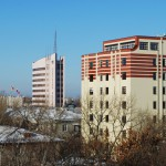 Офис Сбербанка в Воронеже с высоты фото