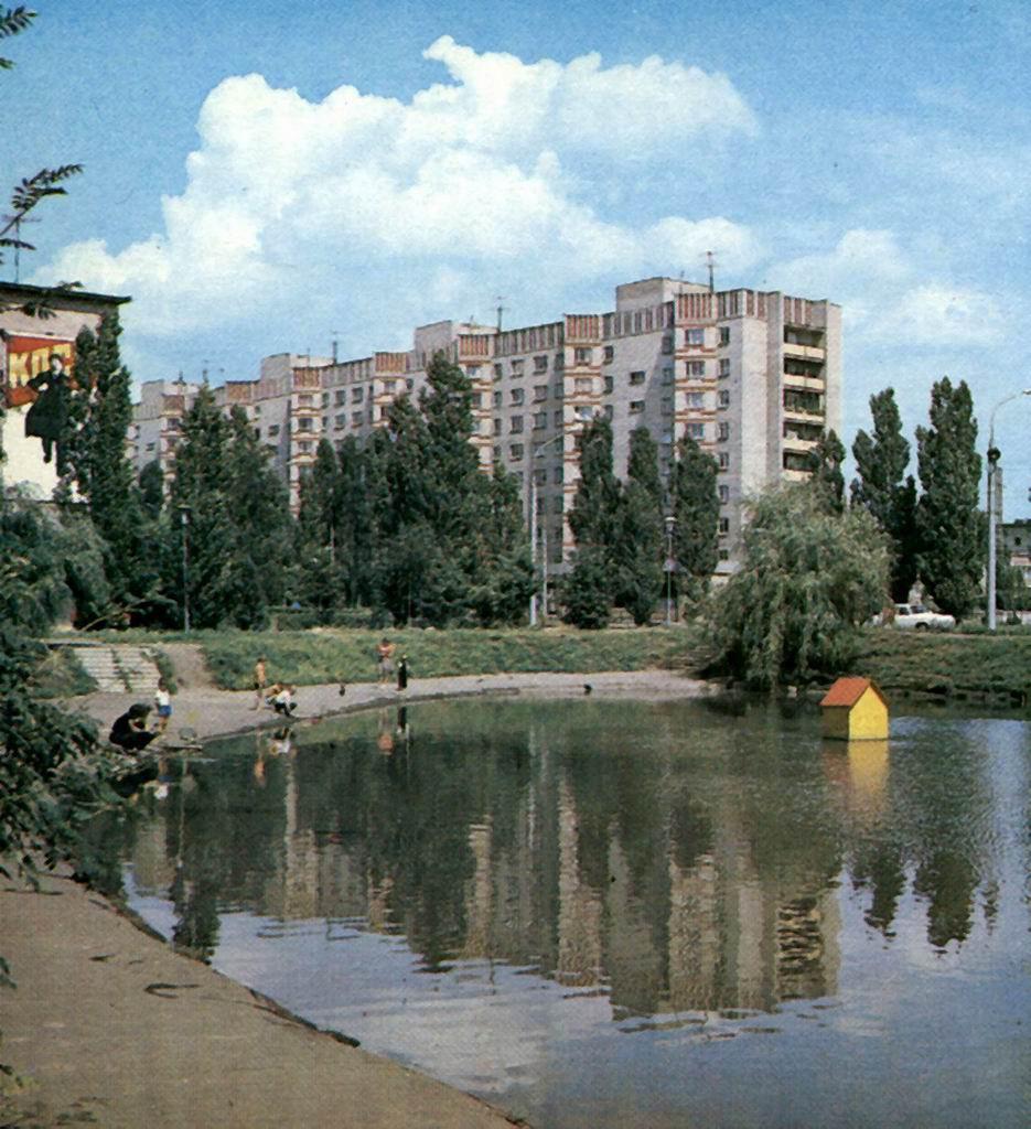 Озеро в сквере в Воронеже фото