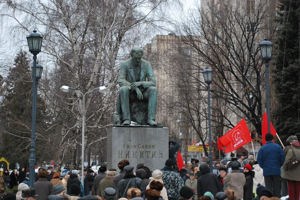Памятник Никитину в Воронеже фото