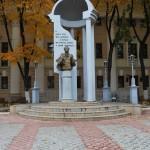 Памятник Пушкину за театром в Воронеже фото