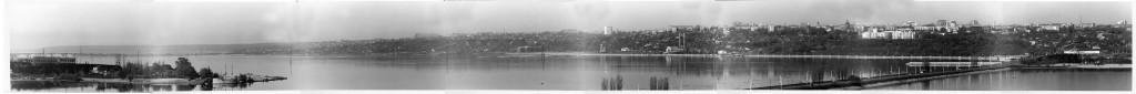 Панорама Правый берег в Воронеже старое фото