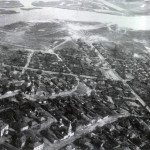 Панорама Воронежа с самолета старое фото
