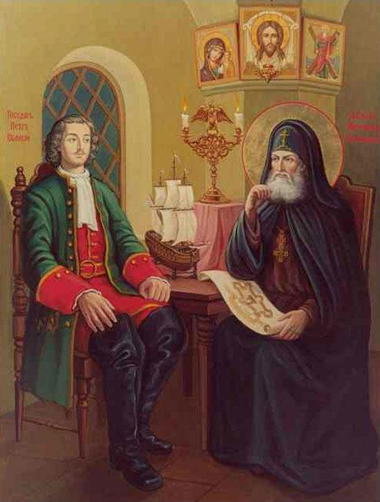 Петр 1 и святитель Митрофан
