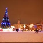 Новогодняя елка на площади Ленина в Воронеже фото
