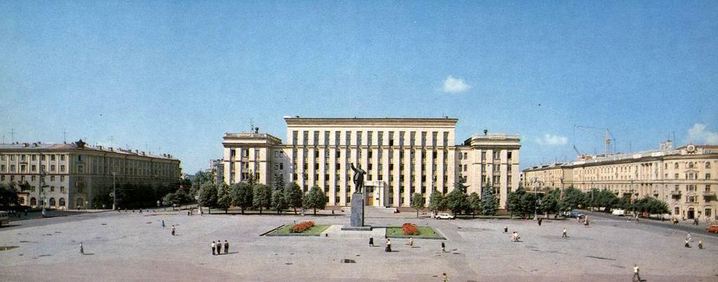 Площадь Ленина в 1970 г. в Воронеже фото