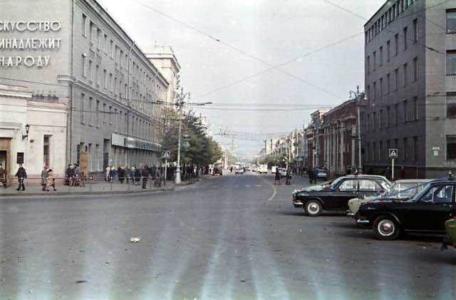 Проспект Революции в районе Кольцовского сквера в Воронеже фото
