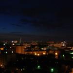 Вид ночью на правобережную часть города Воронежа фото