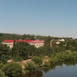 Правый берег с Северного моста в Воронеже фото