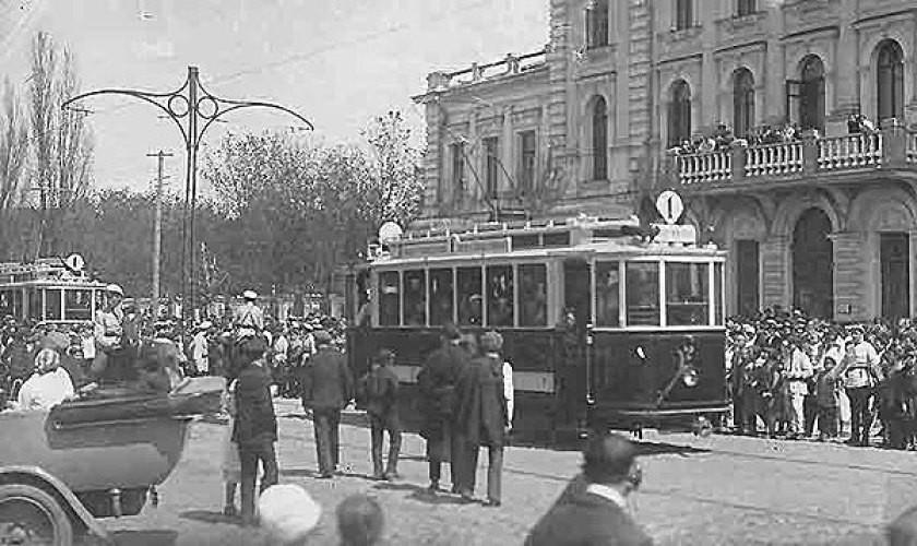 Пуск трамвая в Воронеже старое фото