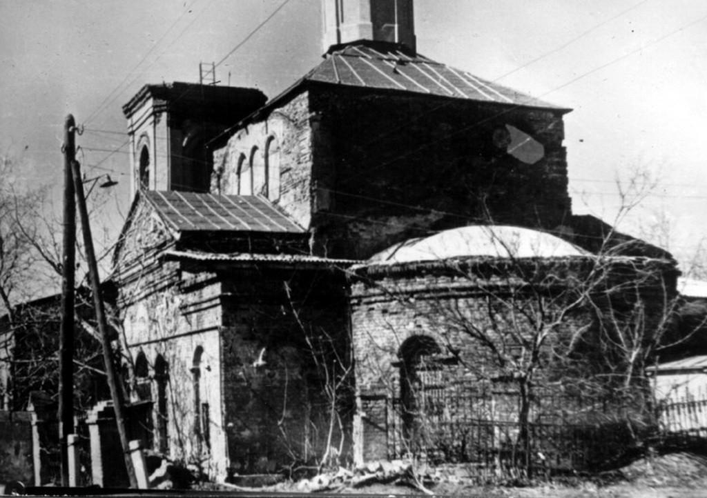 Разрушенный храм в Воронеже старое фото