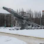 Самолет на ул.Ворошилова в Воронеже фото