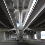 Северный мост - вид снизу в Воронеже фото