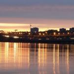 Северный мост - общий вид с набережной Воронеж фото