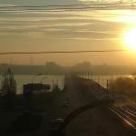 Северный мост - общий вид с железнодорожного путепровода Воронеж фото