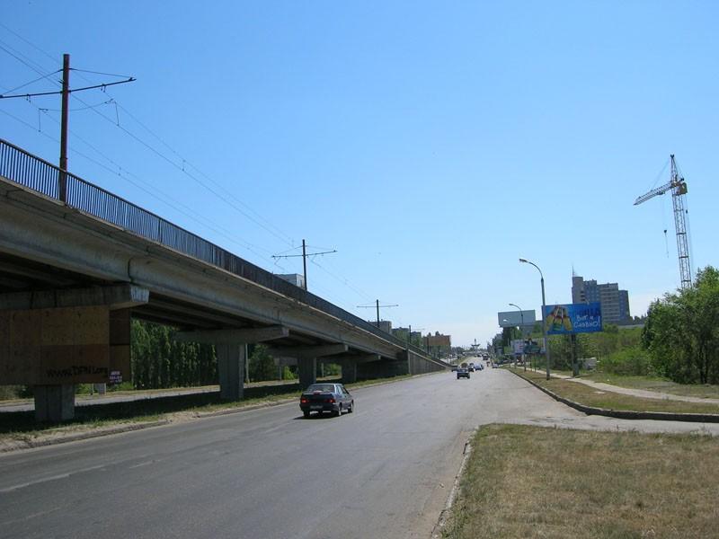 Окончание эстакады Северного моста со стороны Левого берега Воронеж фото