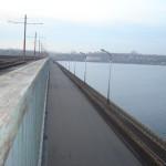 Вид на автомобильную часть Северного моста в Воронеже фото