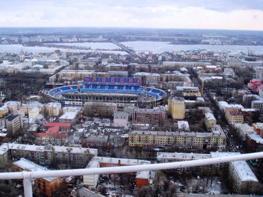 Стадион в Воронеже с высоты фото
