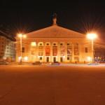 Театр Оперы и балета ночью в Воронеже фото