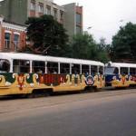 Трамвай в 1997 году в Воронеже фото