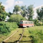 Трамвай на ул.Усманская в Воронеже фото