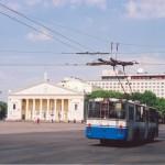 Троллейбус на пл. Ленина в Воронеже фото