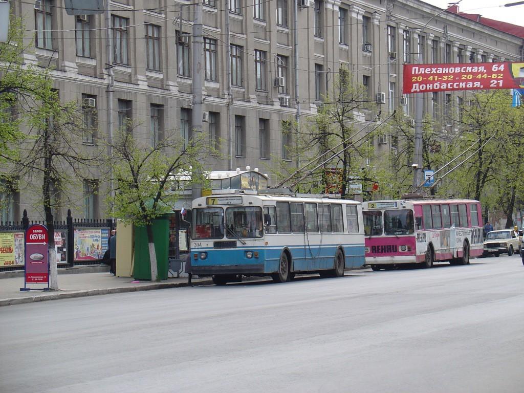 Троллейбус ул. Плехановская в Воронеже фото