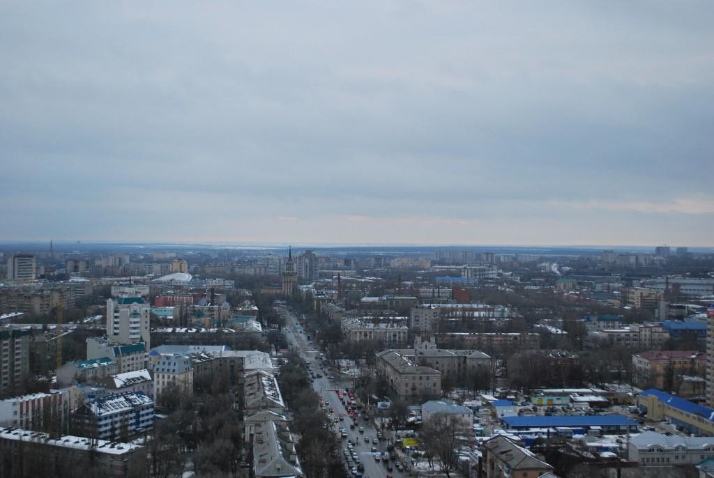 Ул.Кольцовская в Воронеже с высоты фото