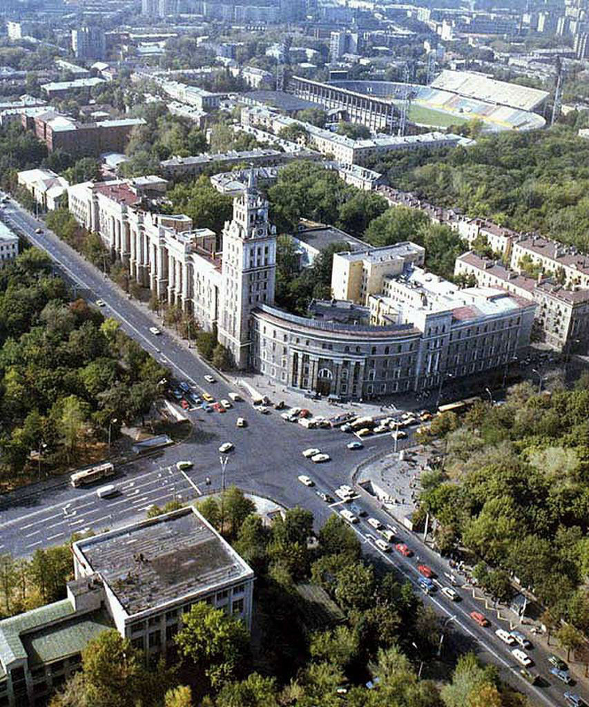 Башня ЮВЖД в 1980-е годы город Воронеж фото