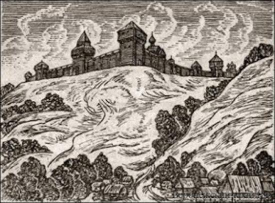 Гравюра Воронеж 17 века с юго восточной стороны