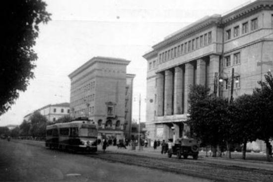 Проспект Революции, город Воронеж 1950 год фотография