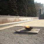 Вечный огонь у памятника Славы в Воронеже фото