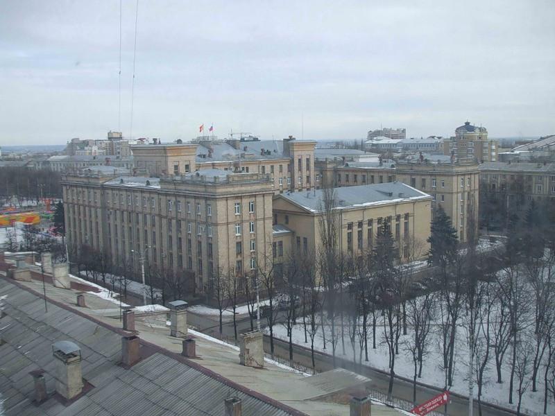 Вид на зимний Воронеж из окна фото