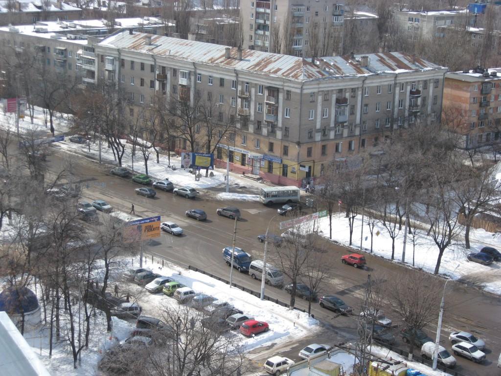 Вид с крыши высотки в Воронеже фото