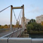 Висячий мост в Воронеже фото