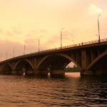 Вогрэсовский мост на закате Воронеж фото